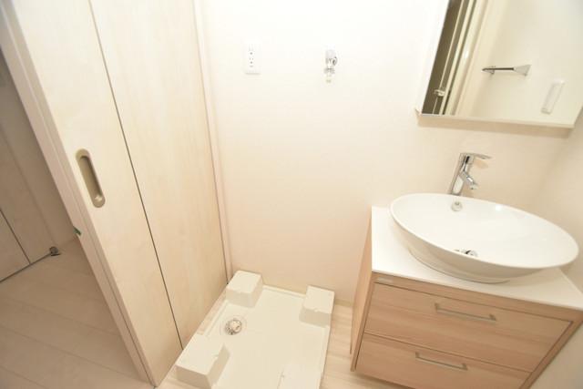 フジパレス諏訪Ⅱ番館 嬉しい室内洗濯機置場。これで洗濯機も長持ちしますね。