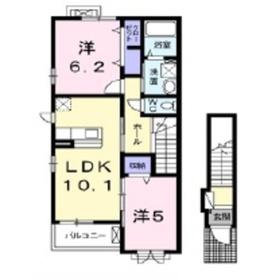 トゥールビヨン2階Fの間取り画像