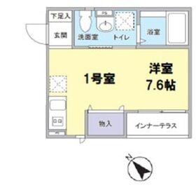 品川駅 徒歩17分1階Fの間取り画像