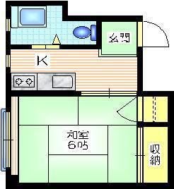 福島ハイツ2階Fの間取り画像