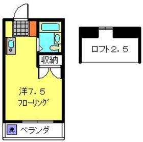 シャルム・ド・羽沢八番館2階Fの間取り画像