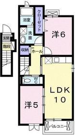 西八王子駅 バス16分「唐松」徒歩2分2階Fの間取り画像