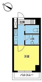 スカイコート日本橋人形町第23階Fの間取り画像