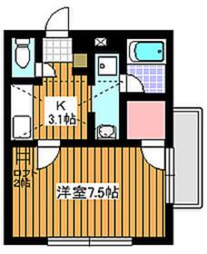 成増駅 徒歩10分2階Fの間取り画像