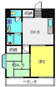 ブルーウェイブ2階Fの間取り画像