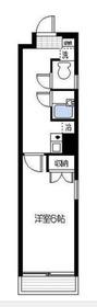 インベスト川崎2階Fの間取り画像