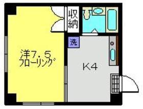 向河原駅 徒歩18分2階Fの間取り画像