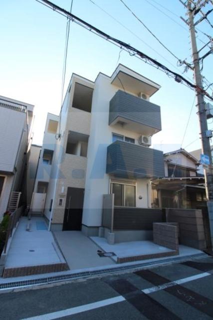 大阪市阿倍野区文の里4丁目の賃貸アパートの外観