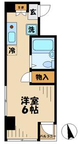 永山CSビル ナガヤマシーエスビル2階Fの間取り画像