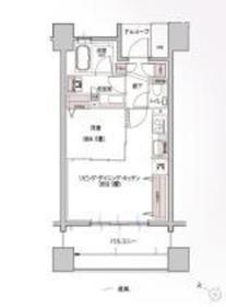 グレーシアパークス横浜関内9階Fの間取り画像