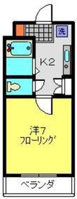 ユキハウス2階Fの間取り画像