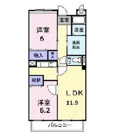 アルカンシェル2階Fの間取り画像