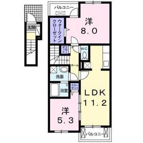 南平駅 徒歩15分2階Fの間取り画像