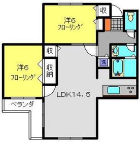 パルテール日吉本町3階Fの間取り画像