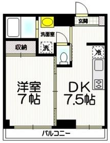 コンパスコートニークラ4階Fの間取り画像