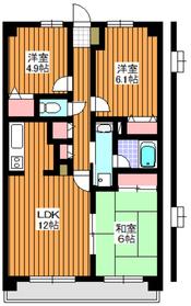 エスペランサ白子壱番館2階Fの間取り画像
