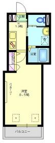 エスポワール川崎3階Fの間取り画像