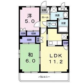 パーソナル Ⅰ3階Fの間取り画像