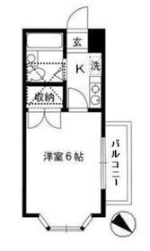 KSG マリーンオークラⅡ2階Fの間取り画像