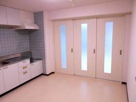 ダイニングキッチン(南側洋室との仕切り扉を閉めた状態)
