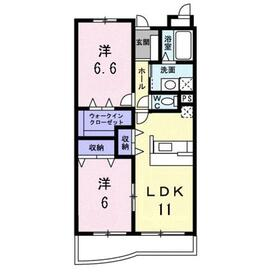 和光市駅 バス14分「北大泉」徒歩4分2階Fの間取り画像