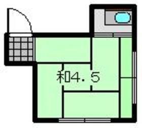 鈴木町駅 徒歩14分2階Fの間取り画像