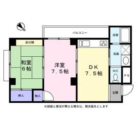 勇吉サンハイツ3階Fの間取り画像