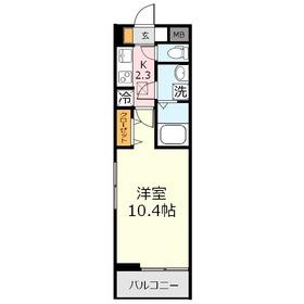 ルーモベルビ・トロア2階Fの間取り画像