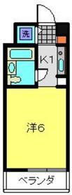 スカイコート横浜駅西口7階Fの間取り画像