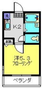 CASA FELICE HOSHIKAWA1階Fの間取り画像