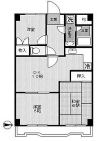 ルベール生田(ルベールイクタ)2階Fの間取り画像