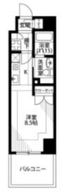プレール・ドゥーク横浜SOUTH Maison Loire7階Fの間取り画像