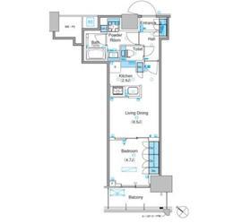 パークアクシス豊洲キャナル2階Fの間取り画像