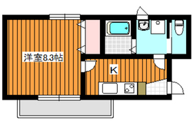 シック平和台3階Fの間取り画像