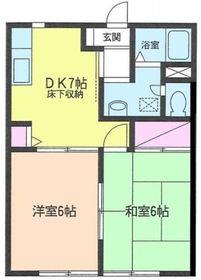 鶴ヶ峰駅 徒歩10分1階Fの間取り画像