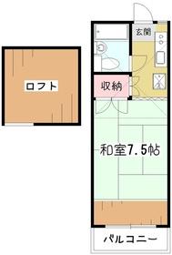 アティック二葉2階Fの間取り画像