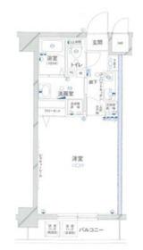 グリフィン横浜・桜木町参番館10階Fの間取り画像