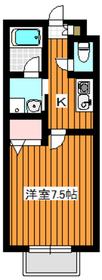 カーサ華MARU2階Fの間取り画像