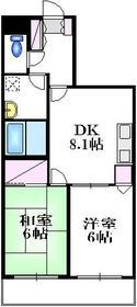 梅屋敷駅 徒歩14分2階Fの間取り画像