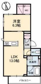 マグノリア カリーノ Ⅱ3階Fの間取り画像