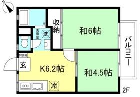 本厚木駅 バス7分「金田」徒歩3分2階Fの間取り画像