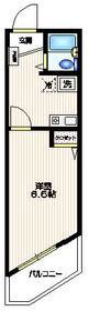 K和泉ビル2階Fの間取り画像