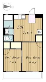マンションヤジマA2階Fの間取り画像