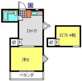 ヴェルディー弘明寺B棟2階Fの間取り画像