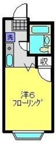 ドエル飯田1階Fの間取り画像