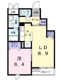 グランドソレーユ3階Fの間取り画像