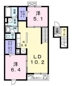 アンベリール4階Fの間取り画像