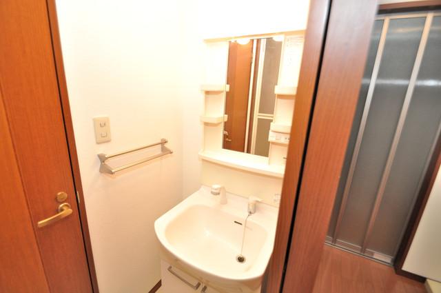 フルールタツミウエスト 人気の独立洗面所にはうれしいシャンプードレッサー完備です。