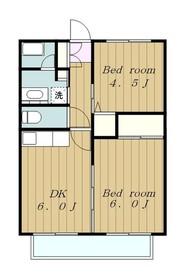サンホワイトM508号棟2階Fの間取り画像
