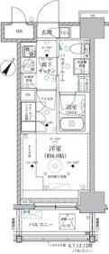 ベルグレード川崎AZ10階Fの間取り画像